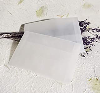CHUJIAN 10 Sheets/Batch Postcard Translucent Blank Sulfuric Acid Paper Envelope Small Gift Card Packaging Stationery