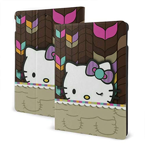 Hello Kitty Tablet Case Slim Lightweight Smart Durable Anime Shell Stand Auto Sleep/Wake Hard Back Cover (10.2Inch)