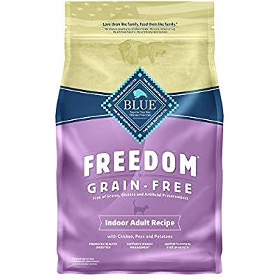 Blue Buffalo Freedom Grain Free Natural Indoor Adult Dry Cat Food, Chicken 5-lb.