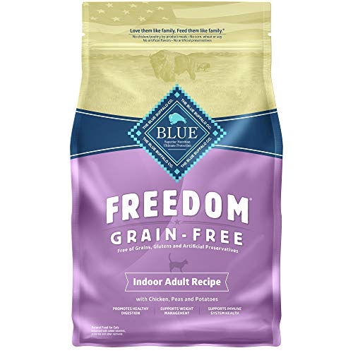 Blue Buffalo Freedom Grain Free Natural Indoor Adult Dry Cat Food, Chicken 5-lb