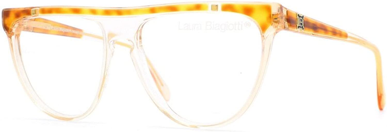 Laura Biagiotti V77 177 Brown and Clear Authentic Women Vintage Eyeglasses Frame