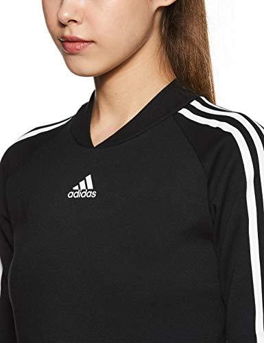 adidas Damen W 3S Dress Kleid, Negro, M