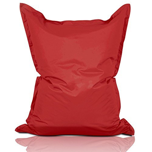 Lumaland Luxury Riesensitzsack XL Sitzsack 270l Füllung 120 x 160 cm Indoor Outdoor Rot