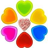 Stampo per torta in silicone a forma di cuore, antiaderente, antiaderente, per torte, teglie e torte, 6 pezzi