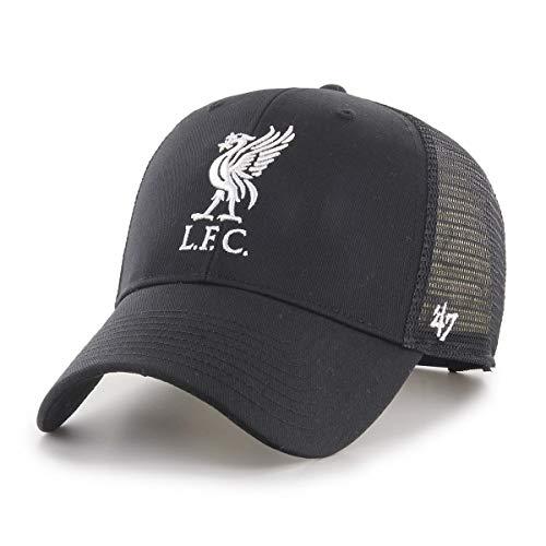 47Brand Branson Trucker MVP Cap FC Liverpool EPL-BRANS04CTP-BKA Schwarz Weiß, Size:ONE Size