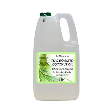 Organic Pure Fractionated Coconut Oil 7 Lb/One Gallon