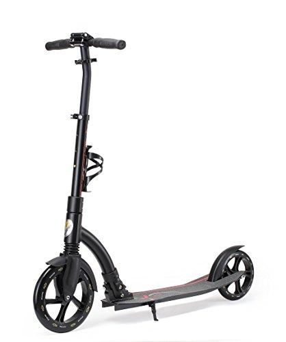 Star-Scooter Patinete 230mm Premium Big Wheel Plegable, para Adultos y niños Desde Aprox. 8 años Ultimate Edition Negro