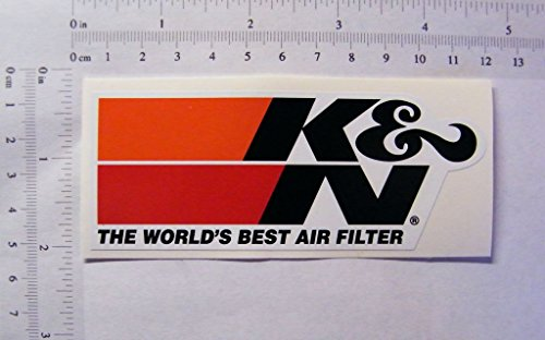 The Cool Graphic K&N Air Filters Farbiger Aufkleber, 113 mm x 45 mm, S070