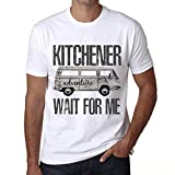 Hombre Camiseta Vintage T-Shirt Gráfico Kitchener Wait For Me Blanco