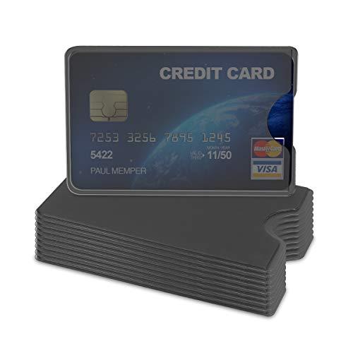 kwmobile 10x カード 保護 ケース プロテクター - ハード カバー カード入れ クレジットカード 免許証 ID ...