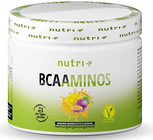 BCAA PULVER Mango Maracuja - Amino Complex hochdosiert - BCAAs Instant Powder - beste Löslichkeit & sensationeller Geschmack - 300g Aminosäurenpulver - Aminosäure Mix