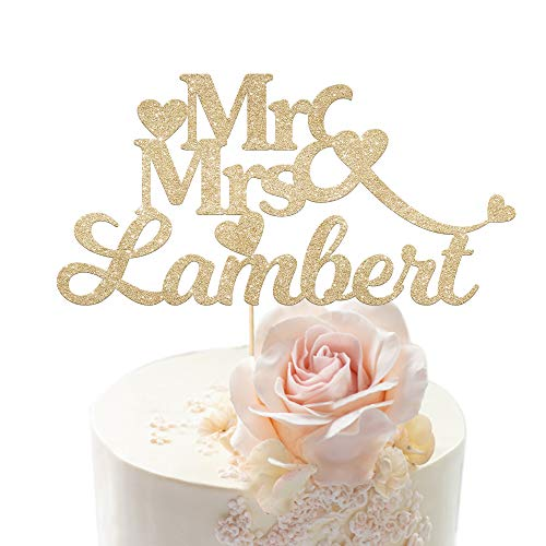EDSG Personalised Wedding Cake Topper Anniversary Cake Decoration MR & MRS...