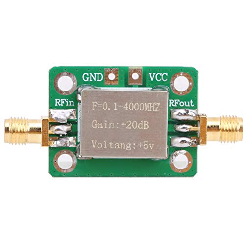 Amplificador de microondas Rf, módulo amplificador de onda corta, comunicación por radiofrecuencia 0,1‑4000 MHz, estándar SMA hembra, amplificador LNA