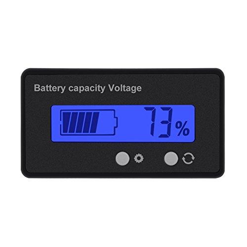 Konesky DC 6V 12V/24V/36V/48V Monitor de Capacidad de batería LCD, medidor de Capacidad de batería Universal