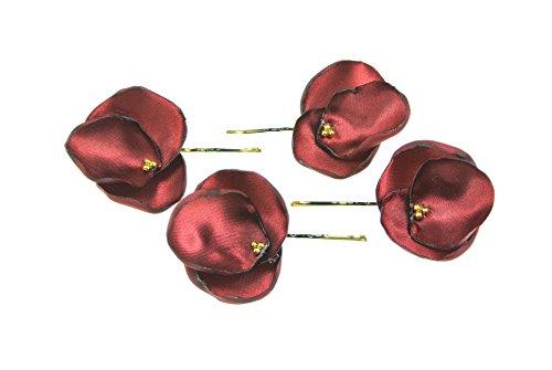 clarigo, Haarnadeln, Haarklammern, Haarklemmen, Hortensie, bordeaux, Hochzeit, Kommunion, Blumen, Blumenmädchen