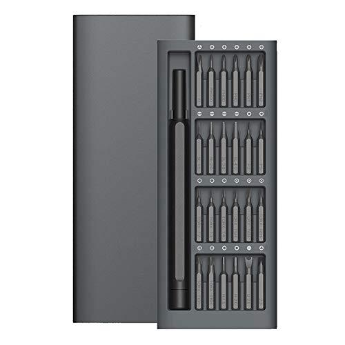 KDLBO Skruvmejsel daglig användning set 24 precision magnetisk borr aluminium låda skruvmejsel uppsättning spår magnetisk raffinerad skruvmejsel sats A