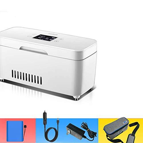 LQUIDE Congélateurs Portables incubateur médical réfrigérateur Domestique 2-8 degrés insuline Froide fraîche Petite boîte Portable avec Batterie (Couleur: A)