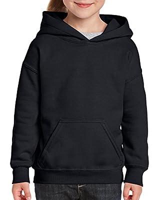 Gildan Kids' Big Hooded Youth Sweatshirt, Black, X-Large