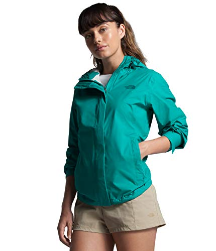 Womens Waterproof Hooded Jaiden Green Rain Jacket