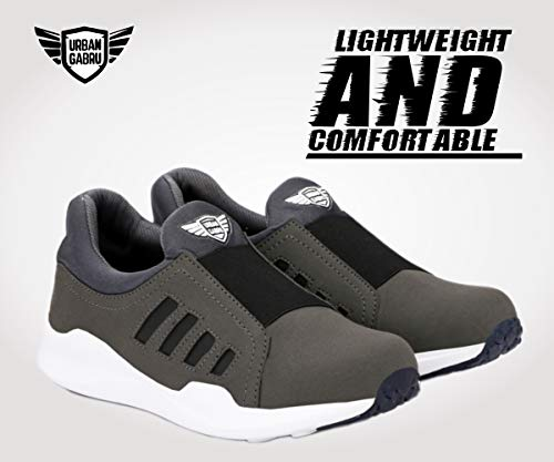 Product Image 4: urbangabru Men's Grey Casual Shoes, Sneakers Without Laces