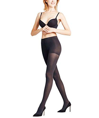 FALKE Damen Strumpfhosen Shaping Panty 50 Denier - Semi-Blickdicht, Matt, 1 Stück, Schwarz (Black 3009), Größe: M