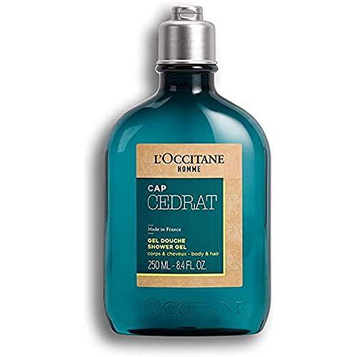 L'OCCITANE Cap Cedrat Duschgel für Männer, Zitrusduft & Aquatic, 250 ml