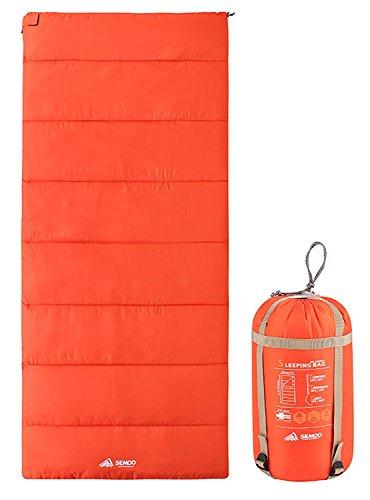 Semoo Deckenschlafsack - Leichter Kompakter Schlafsack Ideal für Frühling und Sommer - 190 x 84 cm / 1kg - Orange