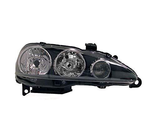 Faros VP855P faro delantero lado pasajero Asamblea proyector luz delantera coche lámpara luz de coche cristal transparente negro LHD compatible con Alfa Romeo 147 2005 2006 2007 2008 2009 2010-