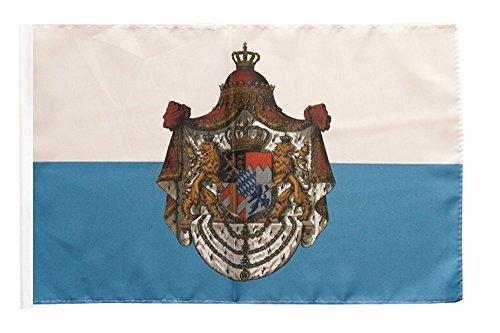 Flaggenfritze Flagge/Fahne Deutschland Königreich Bayern 1806-1918 + gratis Sticker