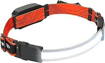Lampe frontale rechargeable USB, 50000 lumens, lampe frontale à faisceau large super lumineux COB 210° avec lumière rouge, 3 modes d'éclairage Lampe frontale légère pour le camping et le cyclisme