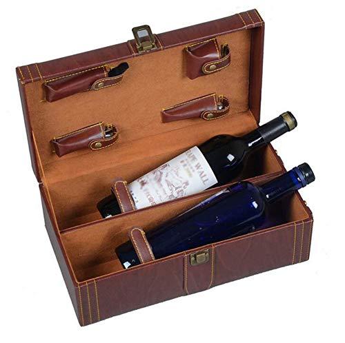 FXXJ Bouteille de vin boîte-Cadeau Présentation de Cas, 4pc Accessoires Set, vin Présentation Boîte, Cérémonie Anniversaire de Mariage de Pendaison de