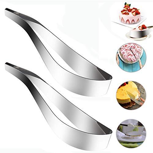 2PCS Edelstahl Kuchen-Schneider, Kuchenhobel,304 Edelstahl Cake Server Slicer, Tortenschneider, Keks-Ausstechwerkzeug, Kuchen Schneider Umhüllung, Draht-Schneider, Küchenutensilien Gadget