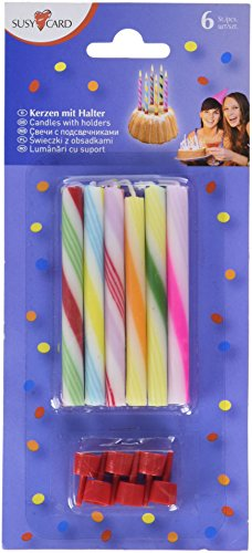 Susy Card Bougies Sucre de Canne coloré
