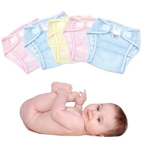 newsfana Super Soft Windel Hose  Befestigung atmungsaktives Mesh Baby Hose Mesh atmungsaktiv Windeln für ein Baby. Pink (5x)