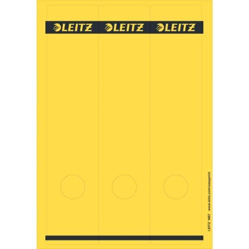 Preisvergleich Produktbild Leitz PC-beschriftbare Rückenschilder selbstklebend für Standard- und Hartpappe-Ordner,  75 Stück,  Langes und breites Format,  62 x 285 mm,  Papier,  gelb