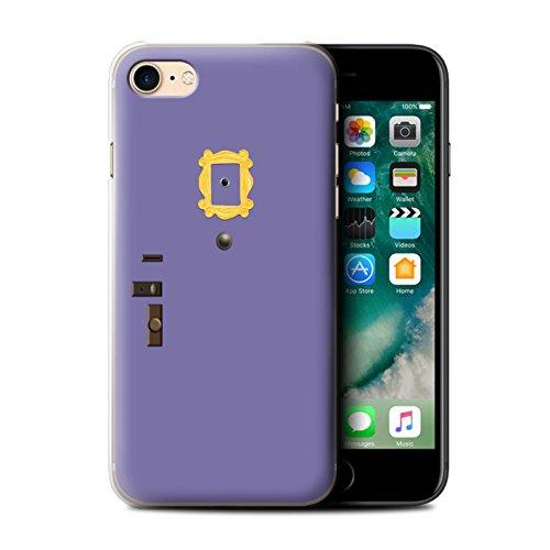 eSwish Carcasa/Funda Dura para el Apple iPhone 7 / Serie: Comedia Televisión Parodia - Puerta Violeta Monica