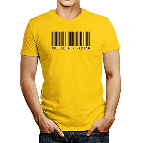 Idakoos - Camiseta de carreras para silla de ruedas - amarillo - Medium