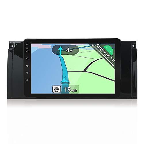 YUNTX Android 8.1 Autoradio GPS pour BMW M5 / E39 /E53/ 5 Series| 1 Din | 2GB/32GB |Caméra arrière et Canbus GRATUITES| 9 Pouces | Soutien Commande au Volant /SD/USB/4G/WiFi/Bluetooth/MirrorLink