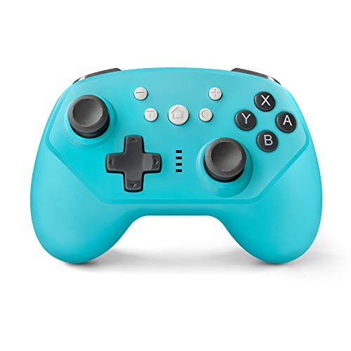 Wireless Controller for Nintendo Switch,Switch Lite and Android,Wired PC and P3,Switch Pro Controller with Turbo,Gyro Axis and Dual Vibration (Blue)