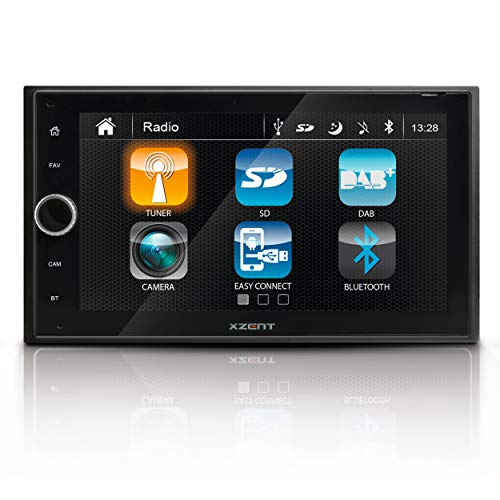 "Xzent X-222: Infotainer, 2 Din Mediencenter, Multimediasystem fürs Auto mit 16,5 cm / 6,5"" Touchscreen Display, Autoradio mit DAB+, Bluetooth, USB, HDMI"