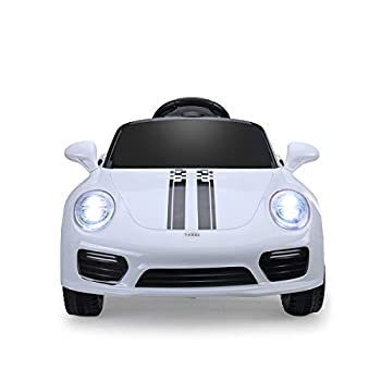 JAXPETY 6V Ride On Car KidsElectric Battery Power Ride-On Vehicle w/ 2.4GHz Remote Control  White