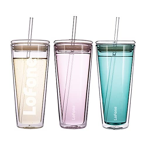 Vaso de vidrio de 20 onzas, taza de viaje de cristal, taza...
