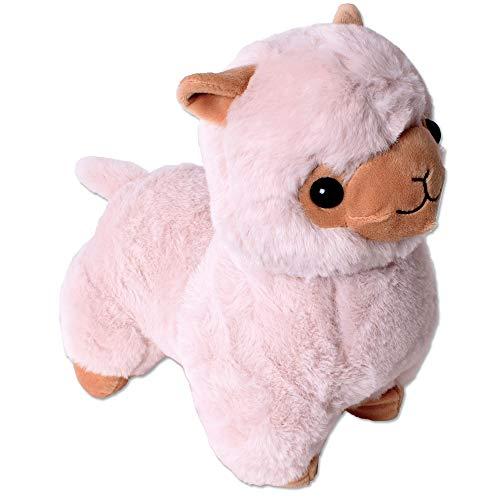 TE-Trend XXL Plüsch Alpaka Alpaca Lama Plüschtier Kuscheltier Deko Stofftier Kinder Baby Geschenk 30 cm Hellbraun