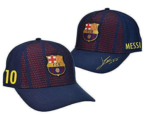 Gorra adulto FC. Barcelona Player Messi-18 – Producto con Licencia – 100% Acrilico – Talla adulto L/XL ajustable