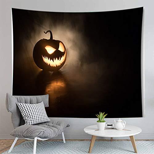 PPOU Alfombra de Calabaza de Halloween 3D Manta Tapiz montado en la Pared Estera de Yoga Bohemia Decoración de la Pared del hogar Tapiz de Tela de Fondo A14 150x200cm