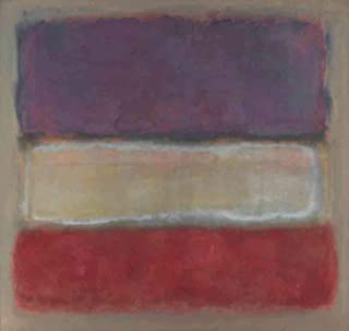 Neron Art Mark Rothko Purple, White, and Red, 1953 - Original Abstract Canvas Paintings Hand Painted Reproduction Rolled - 90X80 cm (Approx. 36X32 inch) for Wall Decoration