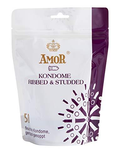 avis marque de préservatif professionnel Préservatif de marque allemande AMOR50 ultra-fin et ultra-lubrifié (avec côtes)