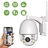 PTZ Dôme Caméra de Surveillance WiFi Extérieure Aottom 1080P Caméra de sécurité WiFi, Caméra IP sans Fil, Audio bidirectionnel, Détecteur de Mouvement, Vision Nocturne de 40M, Message Push, IP66