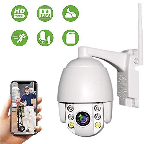 PTZ Telecamera di Sorveglianza Videocamere WIFI Esterno, Aottom 1080P IP Cam Senza Fili 355 /90, 40M Visione Notturna, Audio a 2 Vie, Motion Detection, Messaggio Push, Supporta Scheda SD 64G