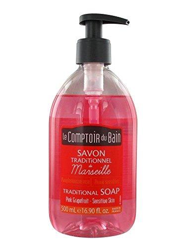 Le Comptoir du Bain Savon Traditionnel de Marseille Pamplemousse Rose 500 ml
